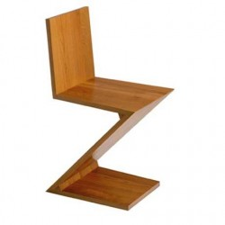 "Bauhaus Chair ""Zig Zag"" by Gerrit Thomas Rietveld (1934)"