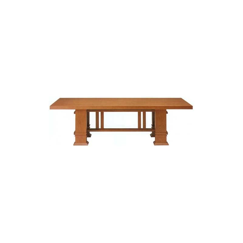 Taliesin table 1917 lang, Frank Lloyd Wright - Bauhaus Esstisch
