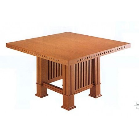 Designer dining table Husser F. L. Wright 1917, Bauhaus furniture