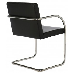 Brno, Mies van der Rohe - Bauhaus chair cantilever with armrest