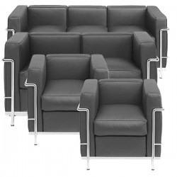 Group Le Corbusier  4 pcs upholstered furniture