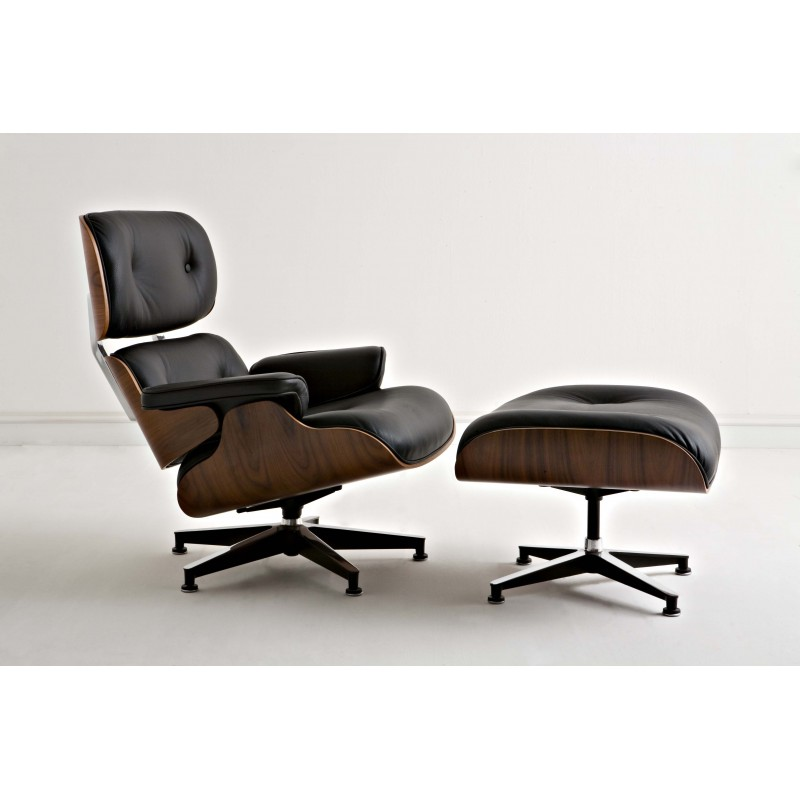 Bauhaus Lounge with stool by Ch..Eames 1956