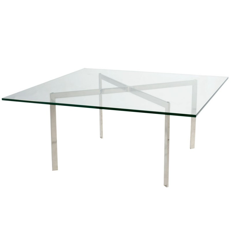 "Designer Table ""Barcelona"" T 98 by L. Mies v.d. Rohe (1922)"